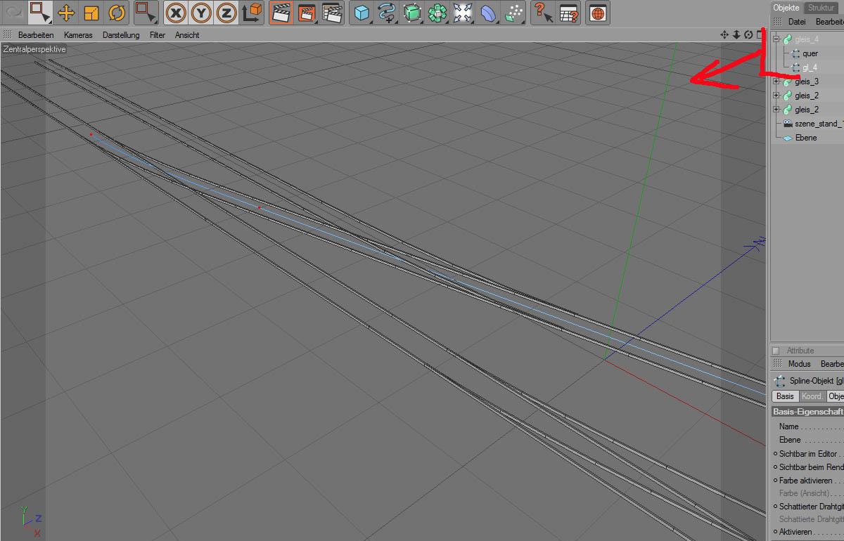 Schienen darstellen