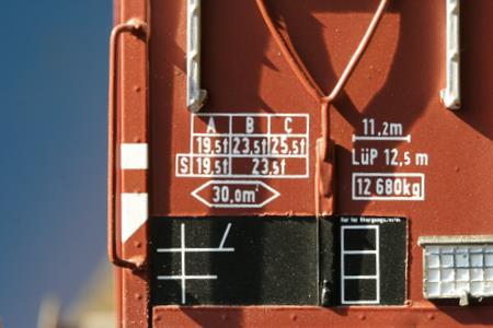 ABC Raster an einem Güterwagen