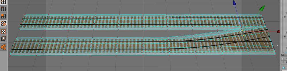 Schotter für zwei Gleise