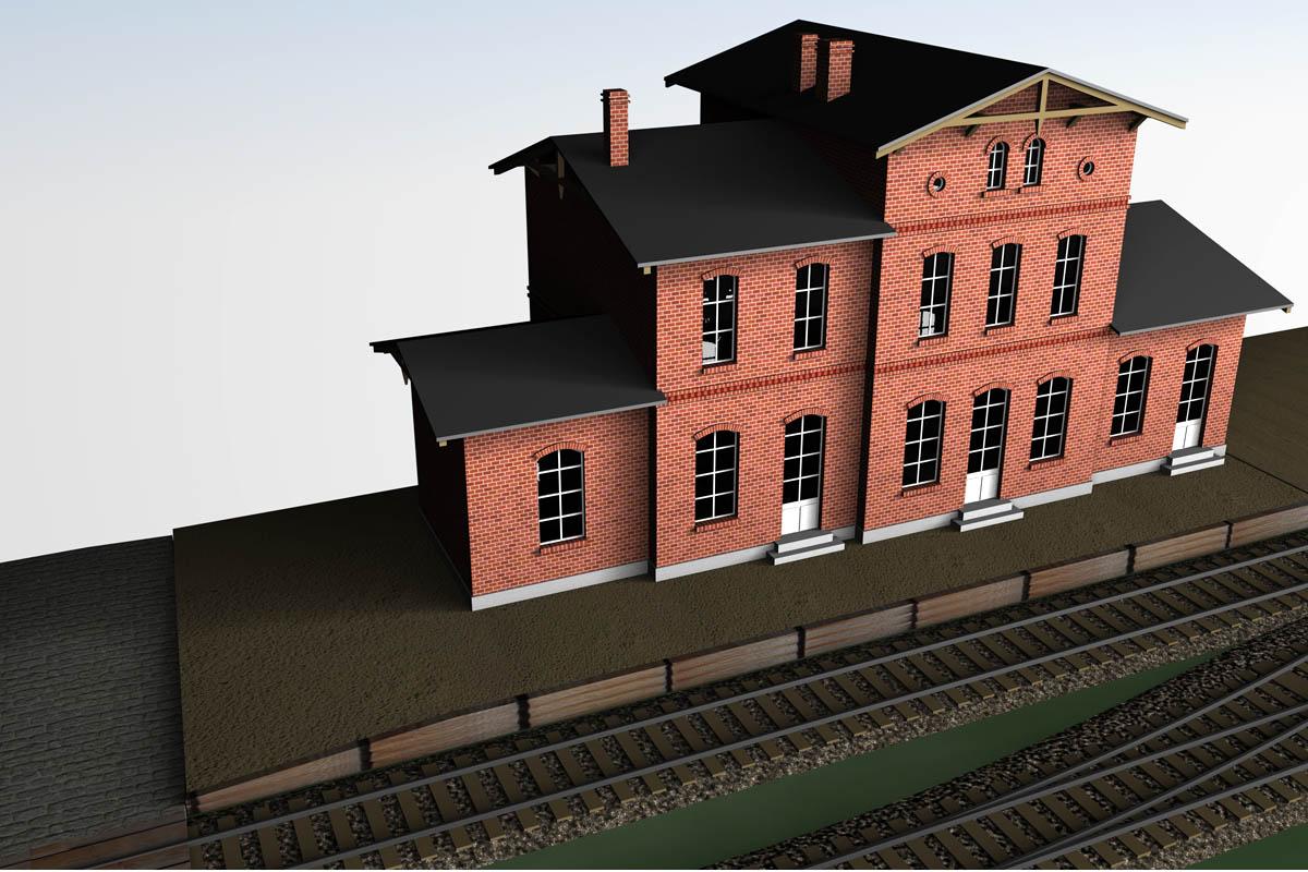 Ansicht des Bahnhofs