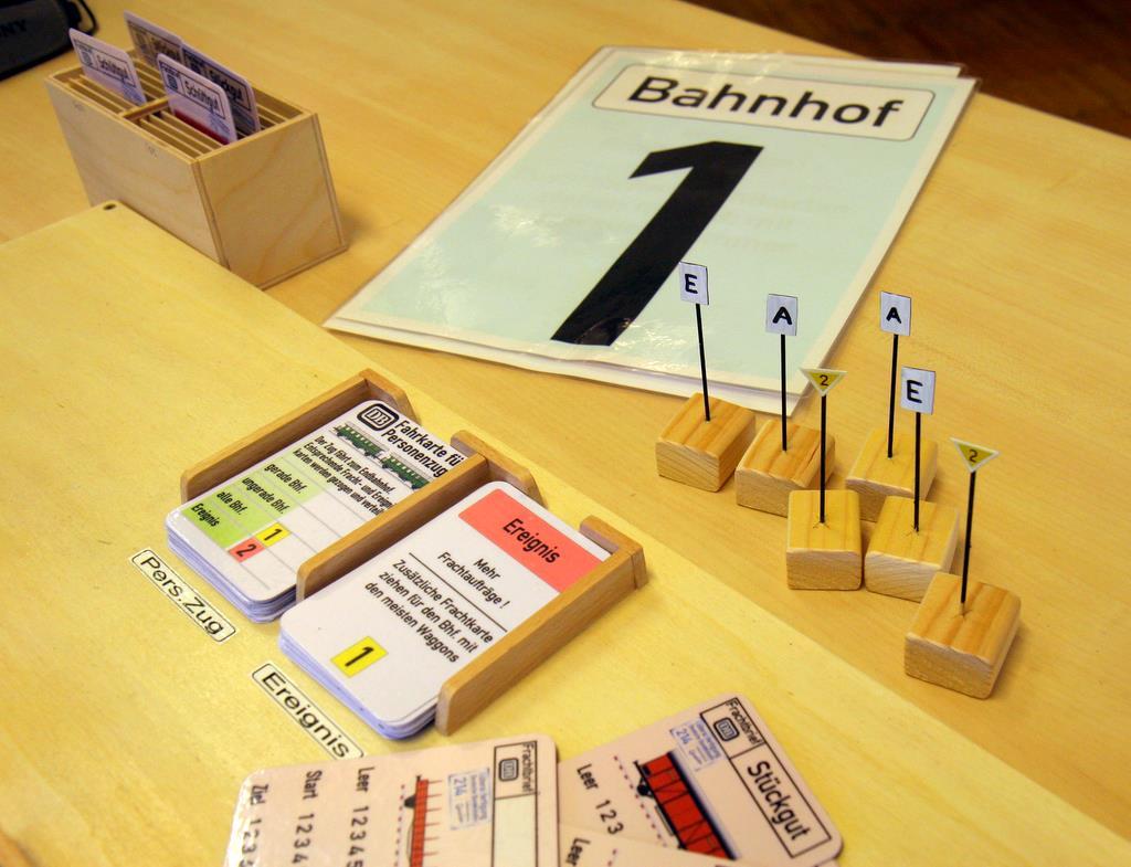 Ereigniskarten, Bahnhofskarten, Streckenschilder für Langsamfahrstrecken