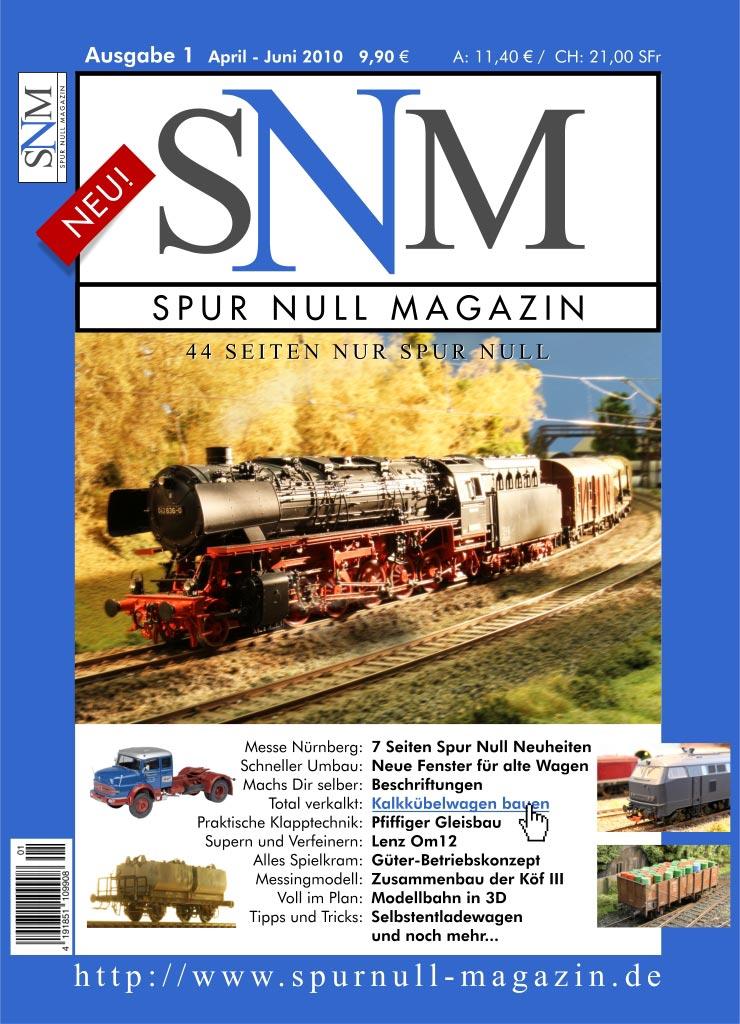 Spur Null Magazin Erstausgabe