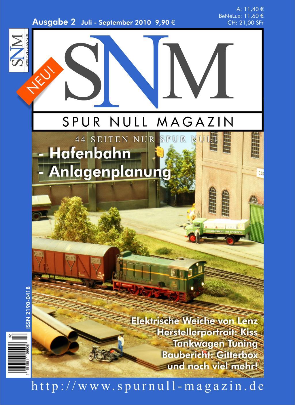 Spur Null Magazin Ausgabe 2 - Juli 2010