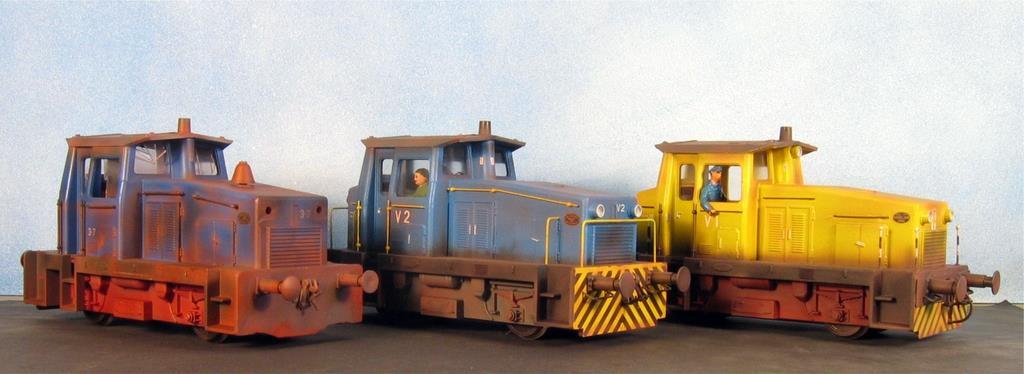 Alle drei umgebauten Loks, jede bekommt ein neues Einsatzgebiet.