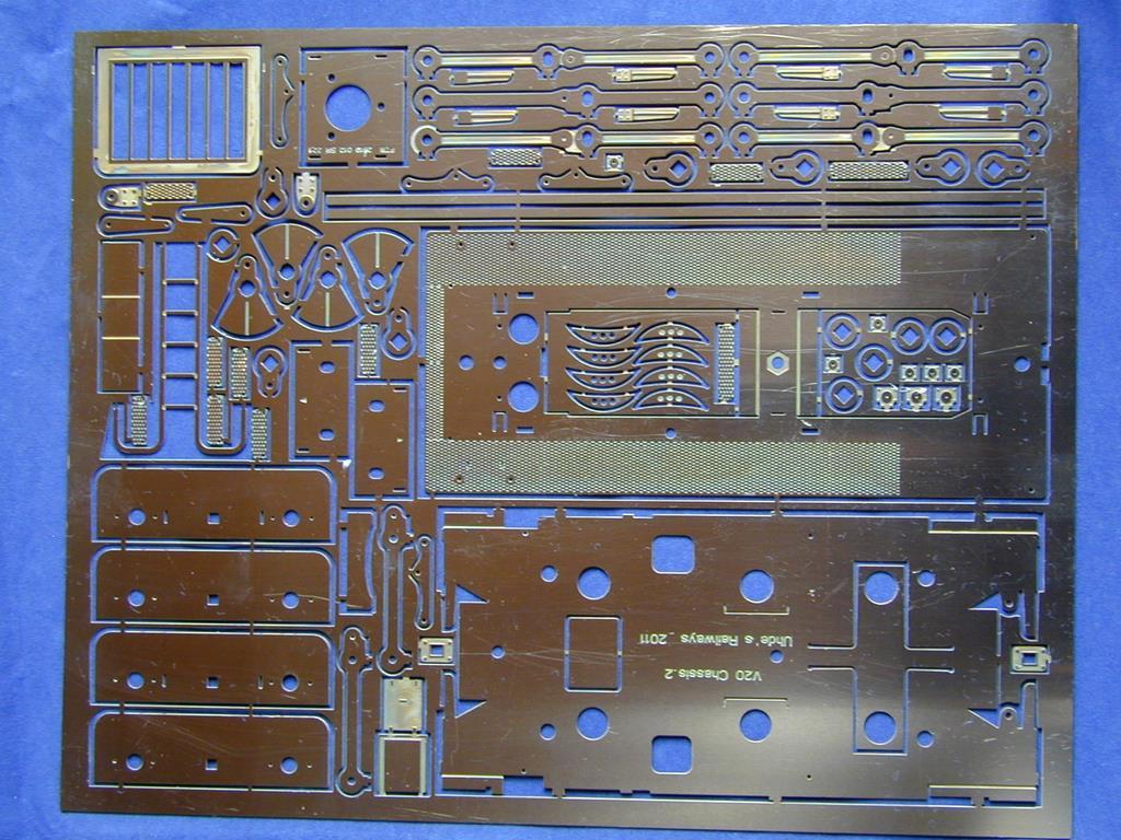 Ätzplatte mit allen Teilen für den Umbau