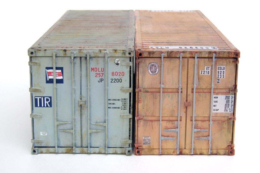 20 Fuß Container, jeder ist einzigartig durch Lackierung und Alterung