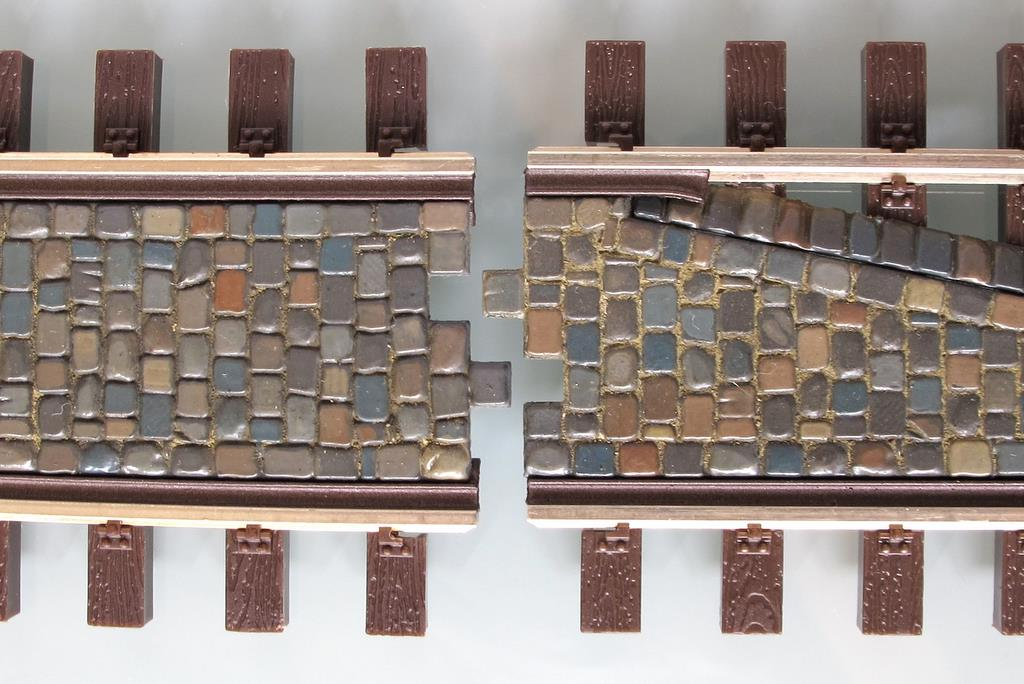 rillengleis pflastersteine im gleis 3 d druck von. Black Bedroom Furniture Sets. Home Design Ideas