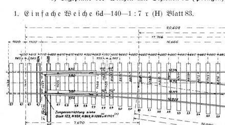 Preußische Weiche, Originalzeichnung