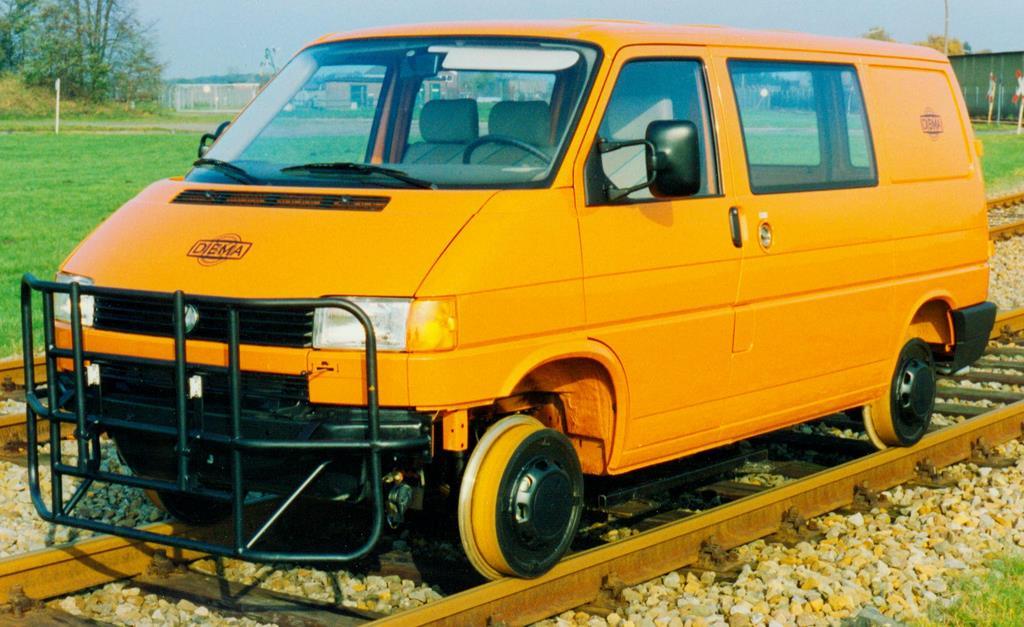 VW Transporter T4 als Schienanfahrzeug