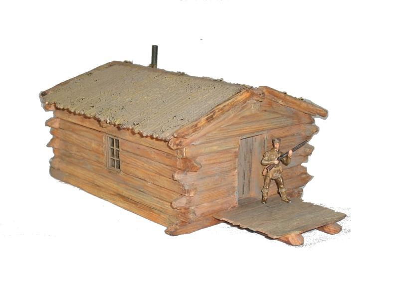 Klassische Blockhütte
