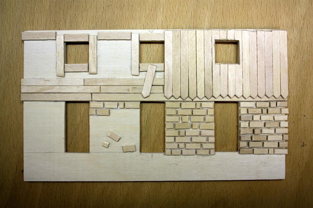 Mit einfachen Materialien wurde ein komplettes Modularrangement gebaut