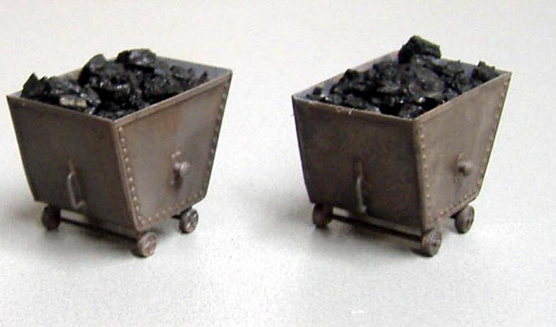 Messingätz-Bausatz für 2 Kohlenhunte, aus 0,4 mm Messing geätzt Art.Nr. 712 Preis 13,50 €