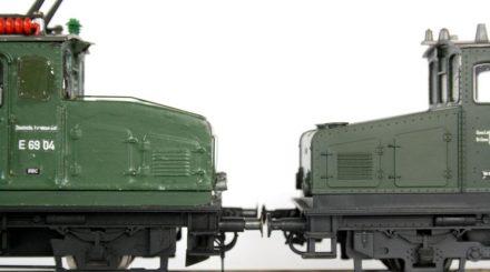 Vorbau der E 69 vor und nach dem Umbau