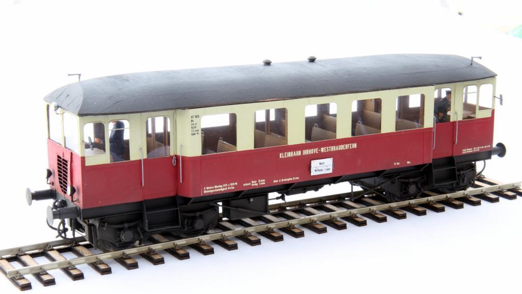 Andreas Manthey baute den VT 165 der Kleinbahn Ihrhove - Westrhauderfehn