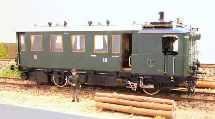 Dampftriebwagen von Fine Arts (Abb. Spur 1 Modell)