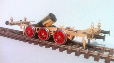 Neues Messing-Fahrwerk der BR 80