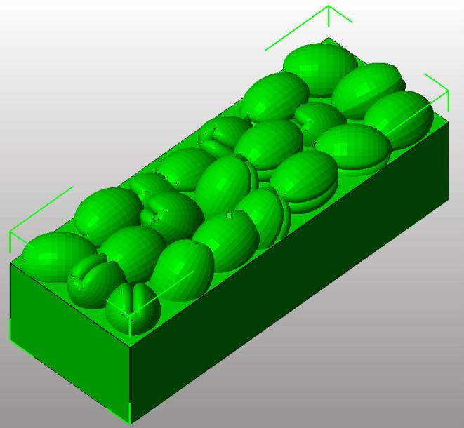 3D Konstruktionszeichnung des Zwetschgen-Einsatzes