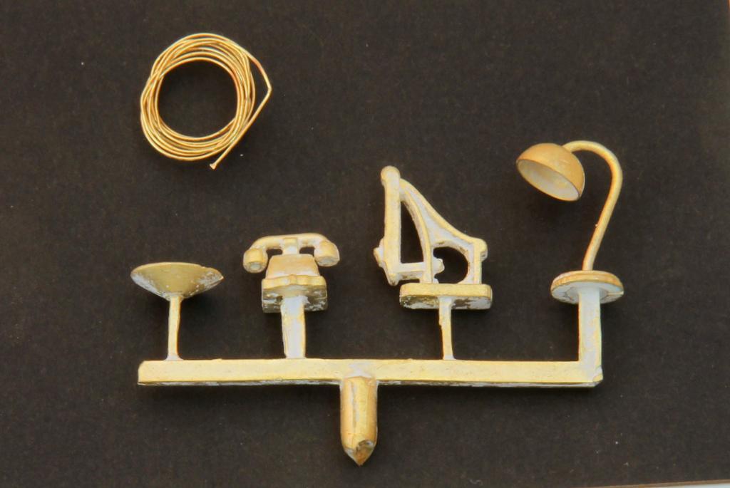 Die Kleinteile werden im Messingguss hergestellt