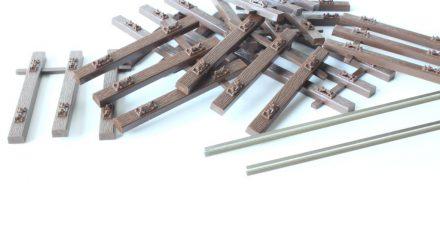 Hegob Gleis mit Kunststoffschwellen