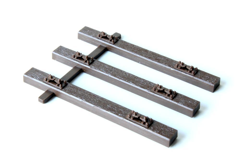 Hegob Gleis, 3er Schwellen mit Schwellenverbindungen