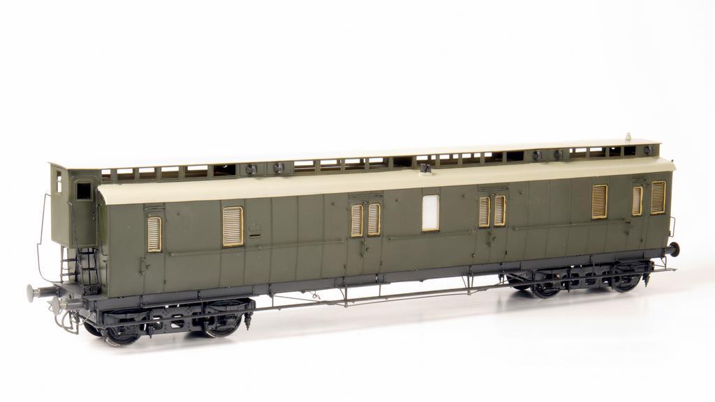 Der Preussische Postwagen Post 4b/17 mit Bremserhaus