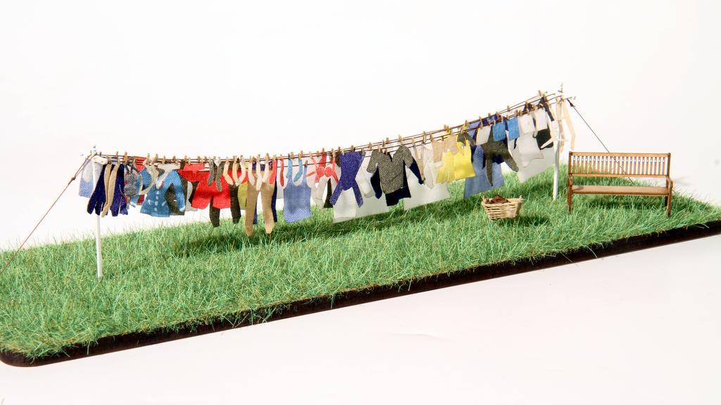 Wäscheleine von Real Modell