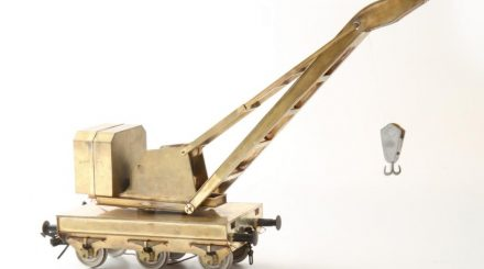 Prototyp des Messingbausatzes, bereits komplett digital bewegbar.