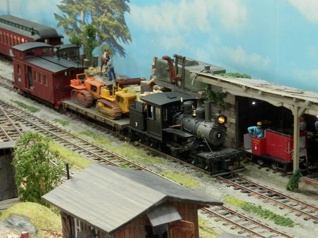 Shay Lokomotive im Einsatz