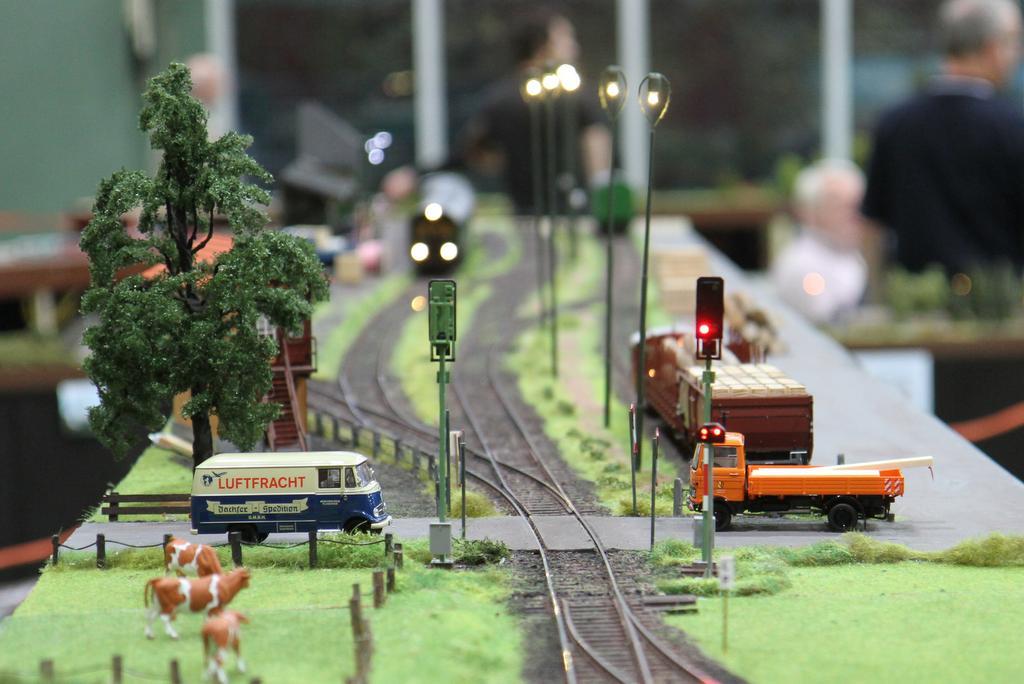 Die Bahnhofseinfahrt ist mit Lichtsignalen gesichert