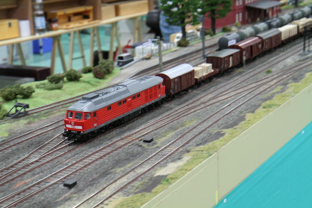 Die Ludmilla von Demko vor einem Güterzug