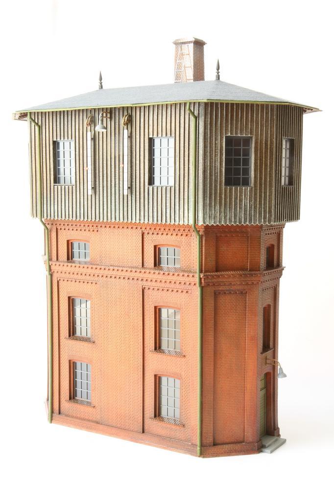 Rückseite des Doppelwasserturms