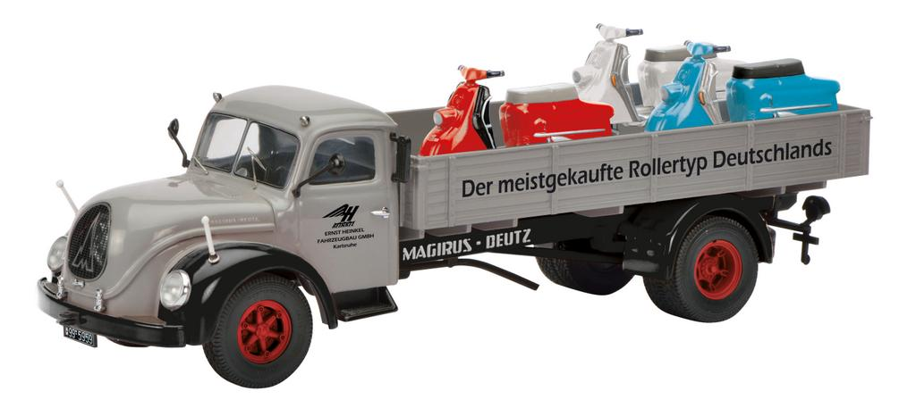 Magirus S6500 mit 3 Heinkel Rollern