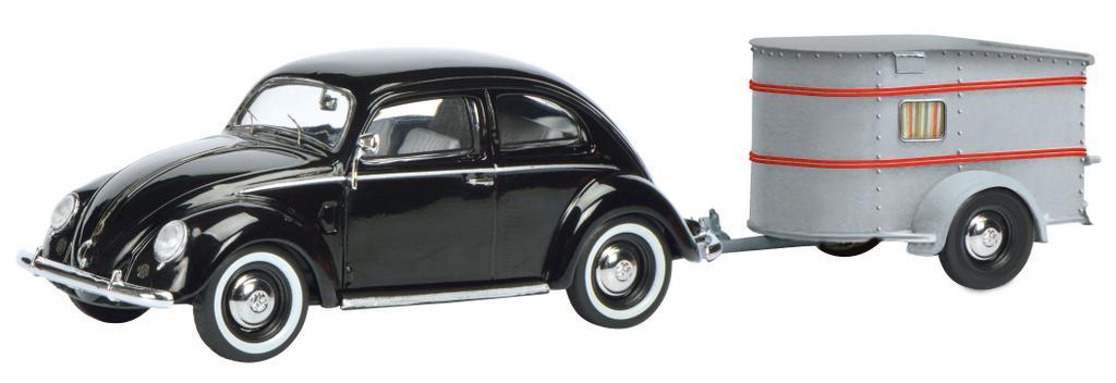VW Brezelkäfer mit Wohnwagen