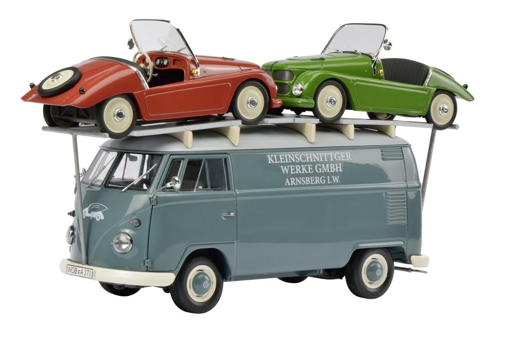 """VW T1 """"Kleinschnittger"""" mit 2 """"Kleinschnittger"""" Roadstern"""