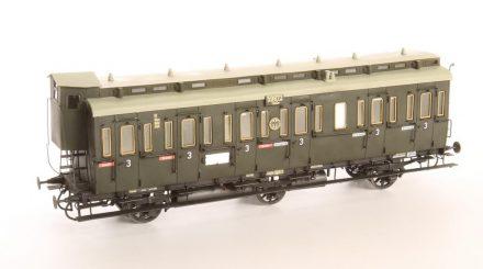 3achsiger preußischer Abteilwagen in DRG Lackierung