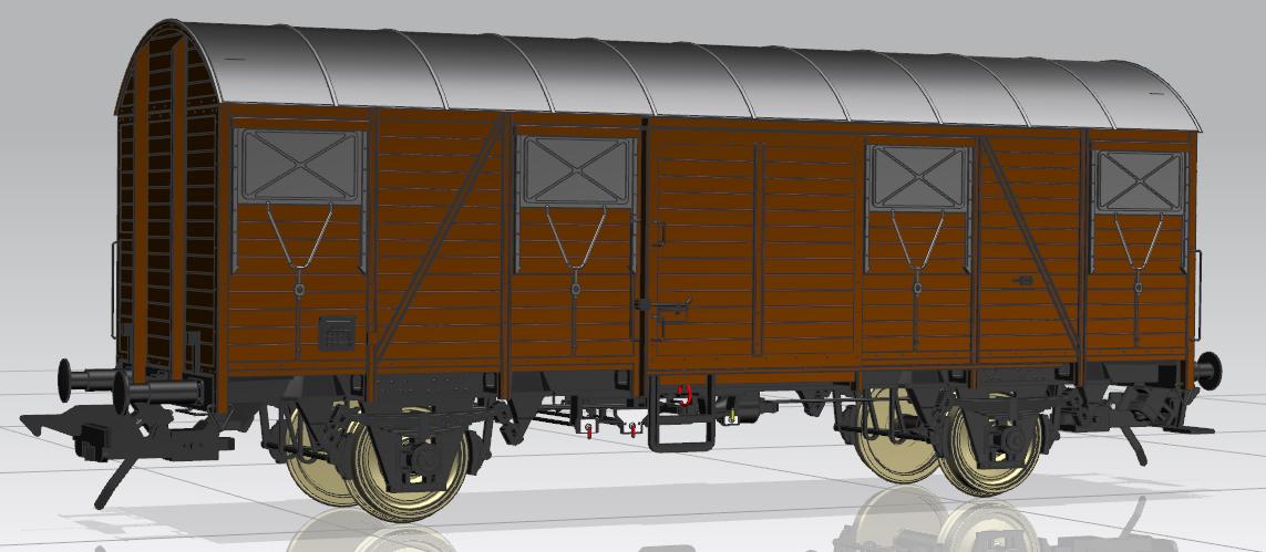 Gmhs 53 Bretterwagen. Konstruktionszeichnung MBW