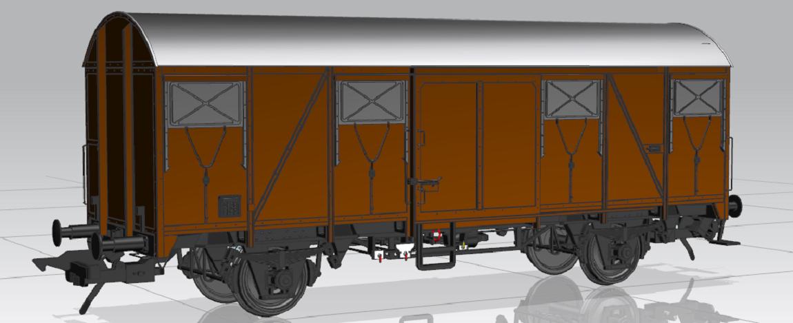 Gms 44 mit Sprengwerk. Konstruktionszeichnung MBW
