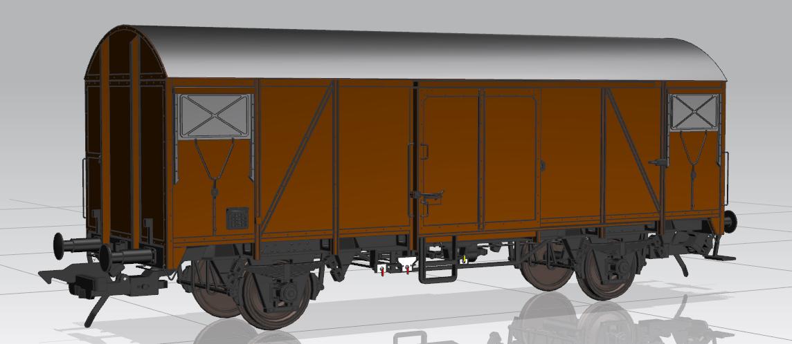 Gms 54 mit 2 Klappen. Konstruktionszeichnung MBW