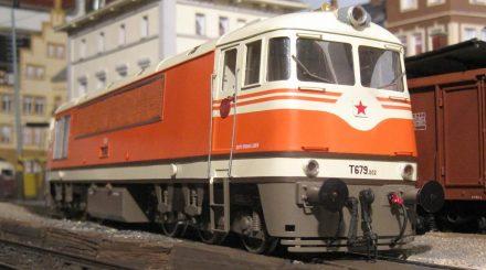Die tschechische T679 aus Prag im Grenzbahnhof