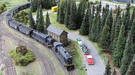 Anlage des MECN auf der Oberbayerischen Spur 0 Modellbahn Messe