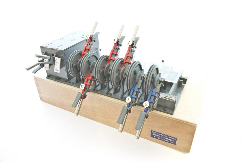 Mechanisches Stellwerk von RST Modellbau