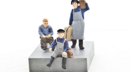 Addie Figuren: Gepäckträger Alfons, Traktorfahrer Heinz, Lokus-Benutzer Rolf