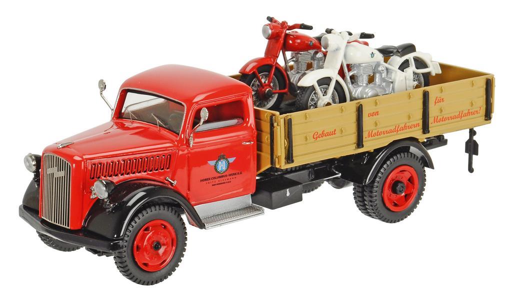 """Opel Blitz """"HOREX"""" Pritschenwagen mit Horex Regina / Art.-Nr. 450305500"""