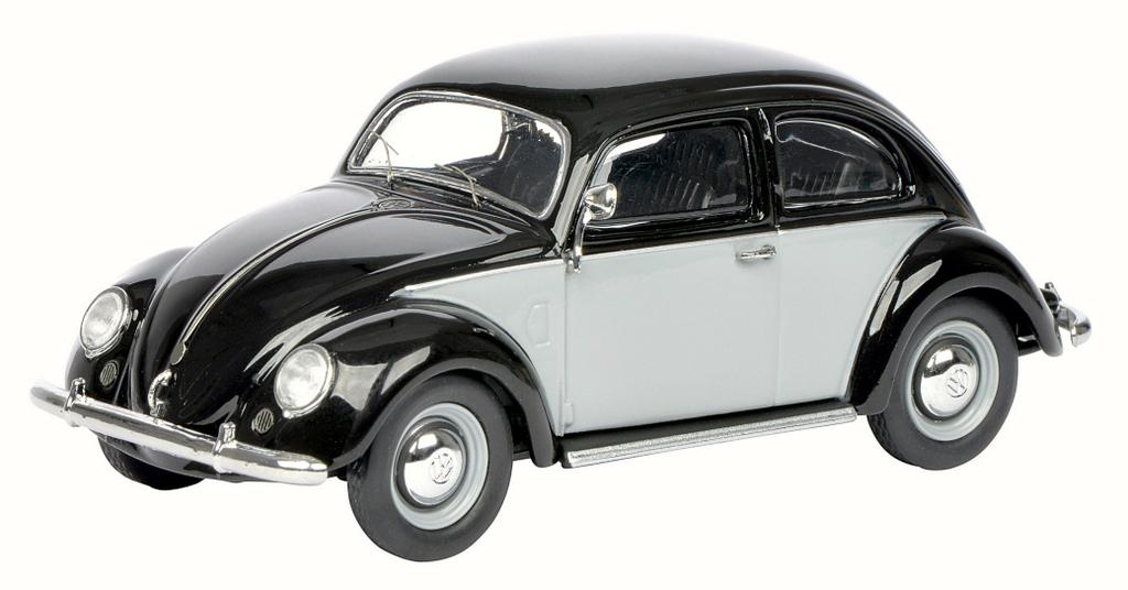 VW Brezelkäfer, grau-schwarz / Art.-Nr. 45038770