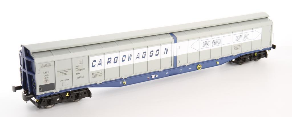 Heljan Habfis Cargowaggon blau