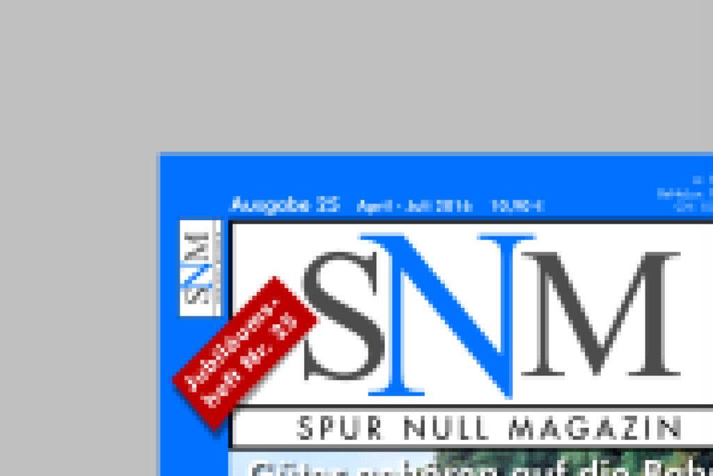 SNM Nummer 25 erscheint Anfang Mai 2016