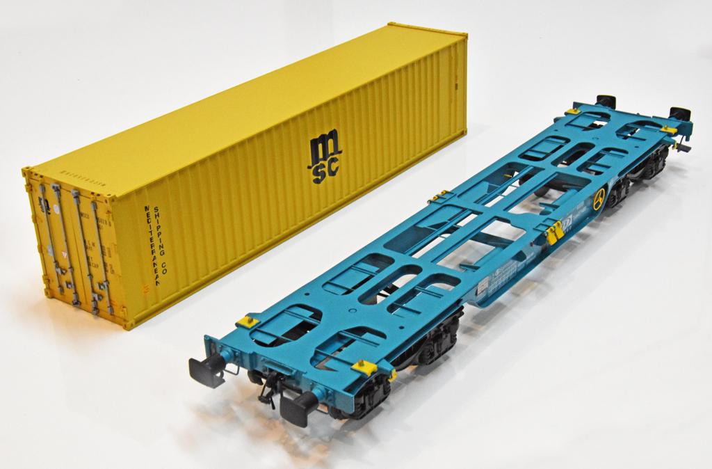 Containertragwagen Sgmmnss als Bausatz