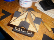 Dachkonstruktion aufkleben