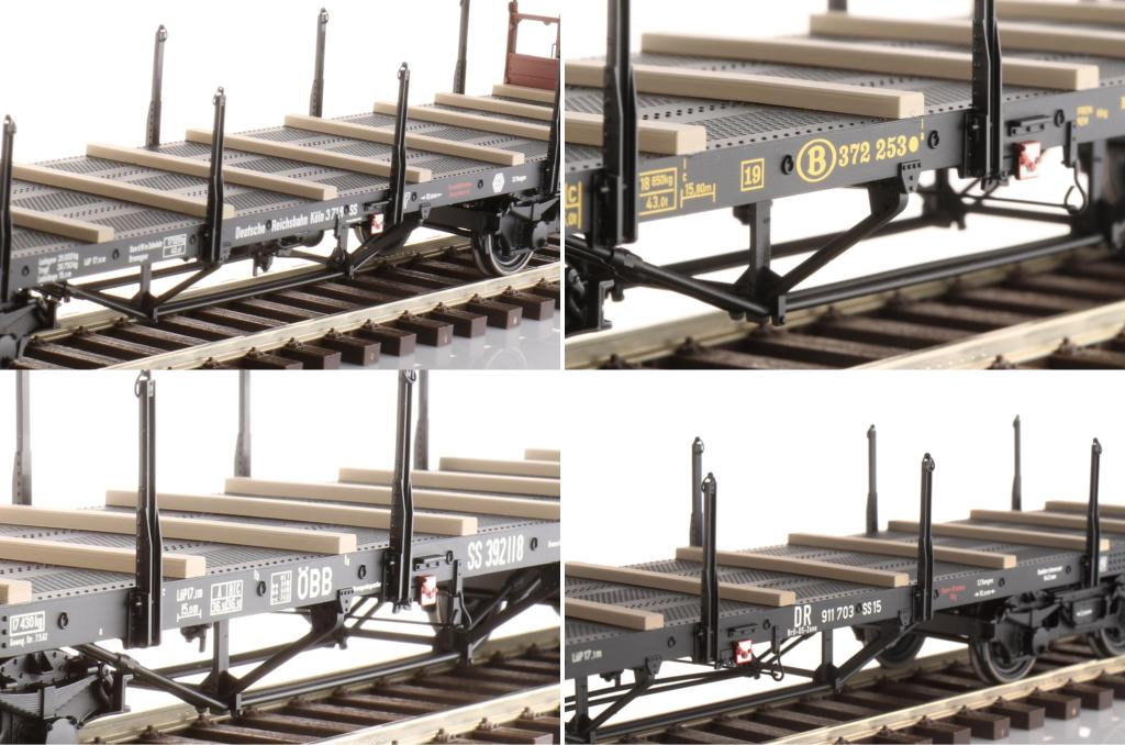Schienenwagen SS15 in 10 Bedruckungsvarianten