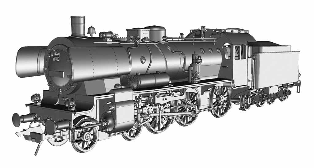 BR 38 Konstruktionszeichnung